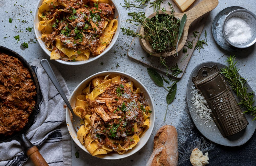 PORK RAGÙ WITH PAPPARDELLE